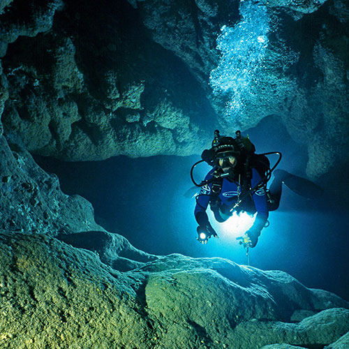 The Darkness Beckons Cave Diving